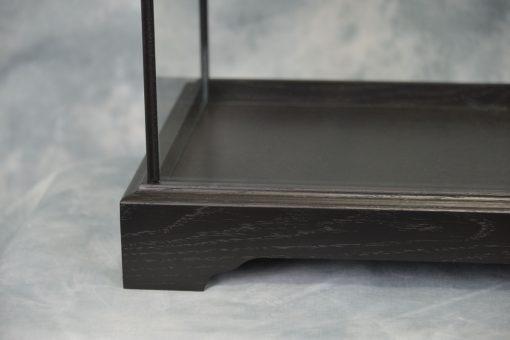 Glass Display case Oak Framed Black
