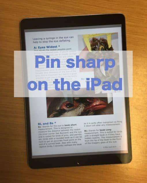 Bird Measurement Book view on iPad